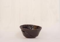 hand-built bowl in temokue glaze